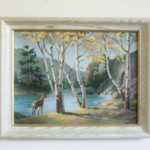 Autumn Landscape Large Wall Decor With Frame